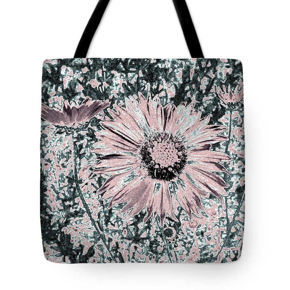 Daisies Tote Bag featuring the digital art Rose Wine Daisies by Will Borden