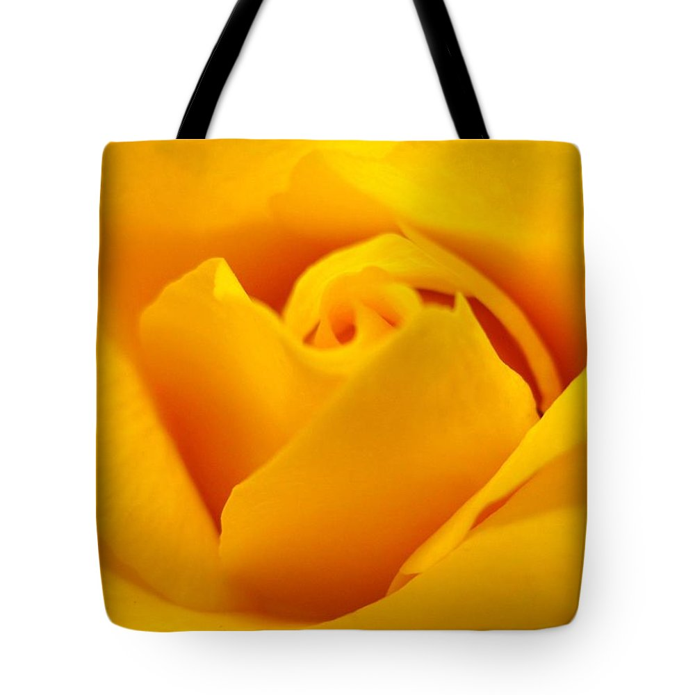 Rose Tote Bag featuring the photograph Rose Yellow by Rhonda Barrett