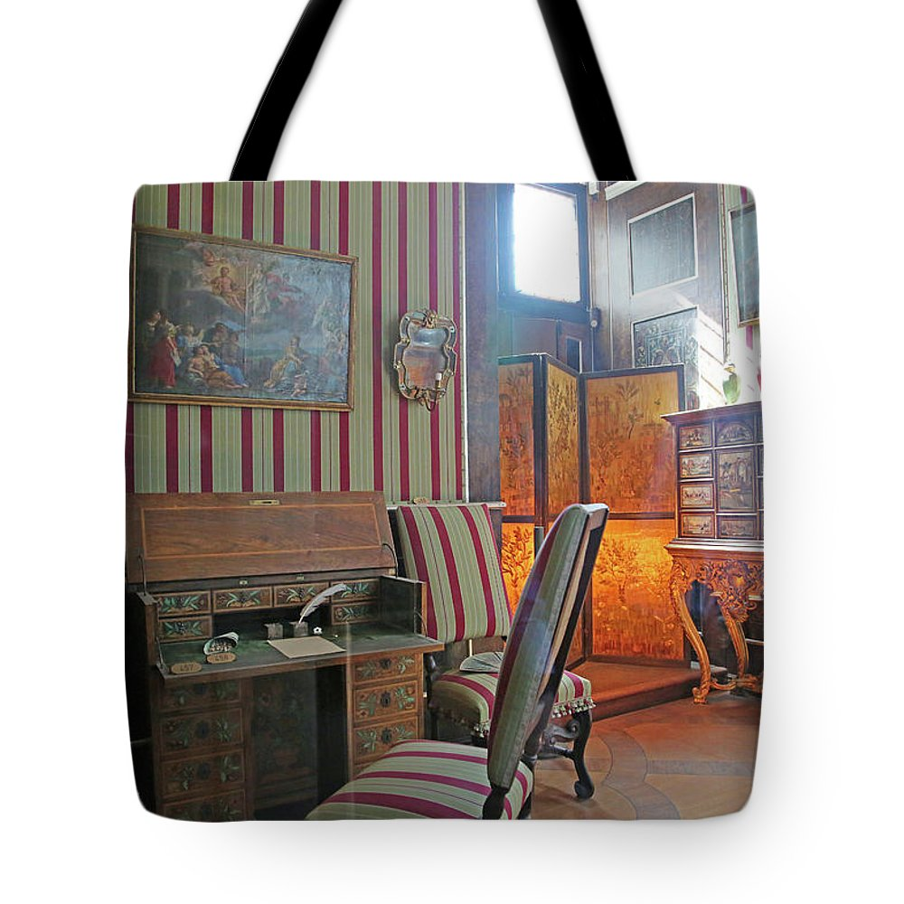Inside Tote Bag featuring the photograph A Castle Story 01 by Betsy Knapp