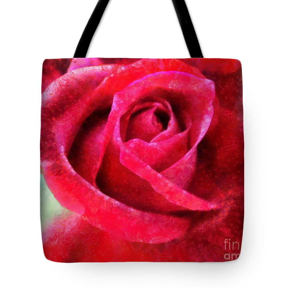 Red Rose Tote Bag featuring the photograph Roses Are Red by Krissy Katsimbras