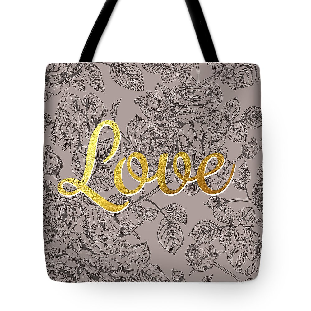 Rose Tote Bag featuring the digital art Roses For Love by BONB Creative
