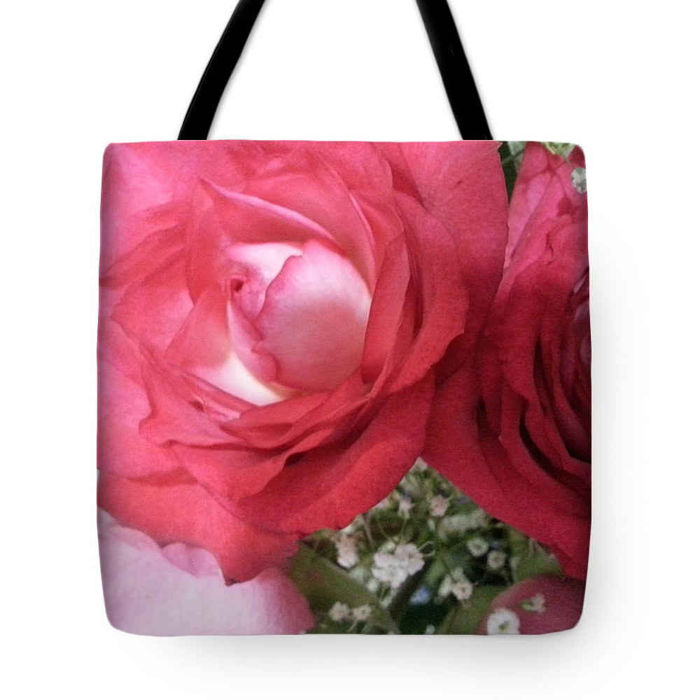 Pink Tote Bag featuring the photograph Roses by Janene Hall