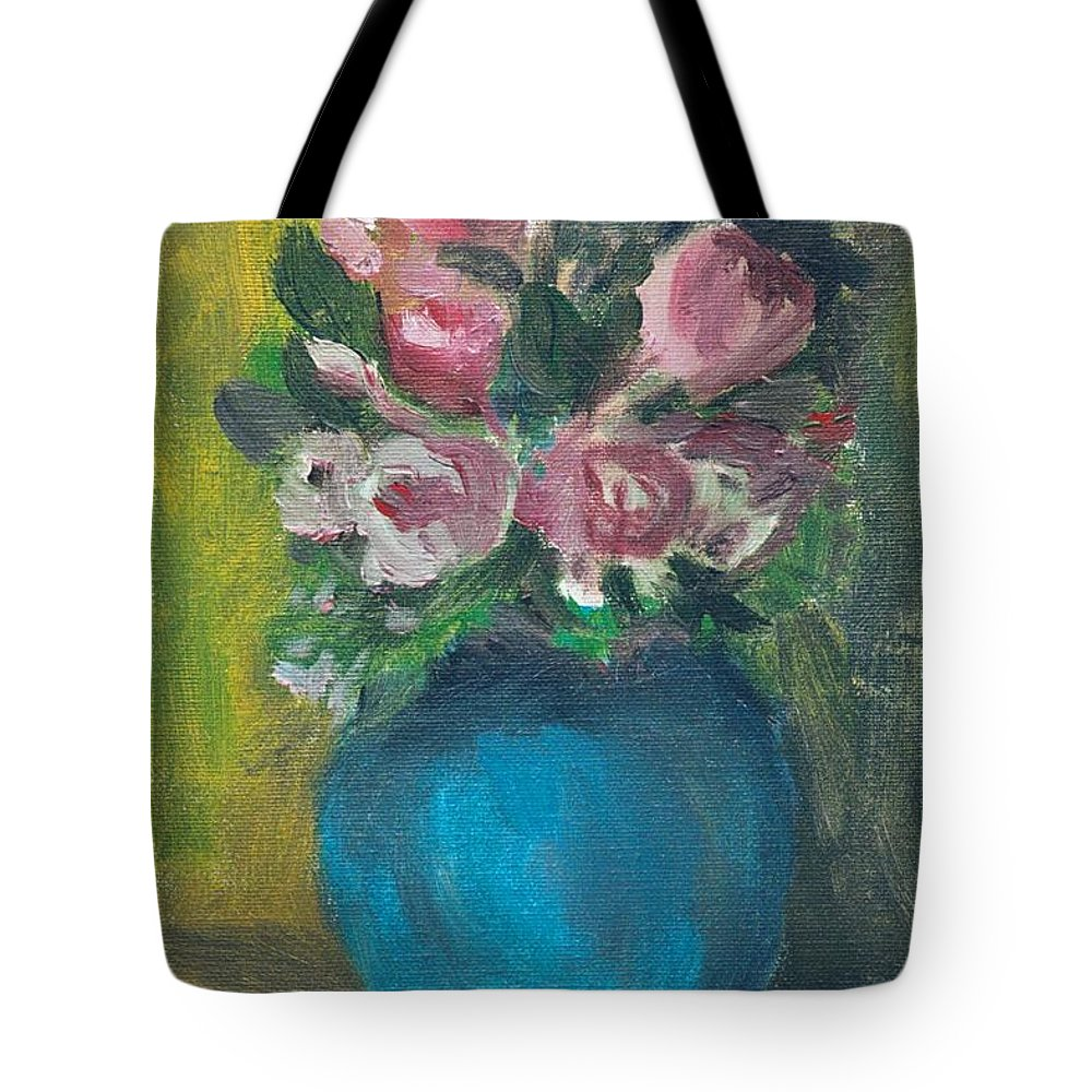 Roses Tote Bag featuring the painting Roses by Jun Jamosmos
