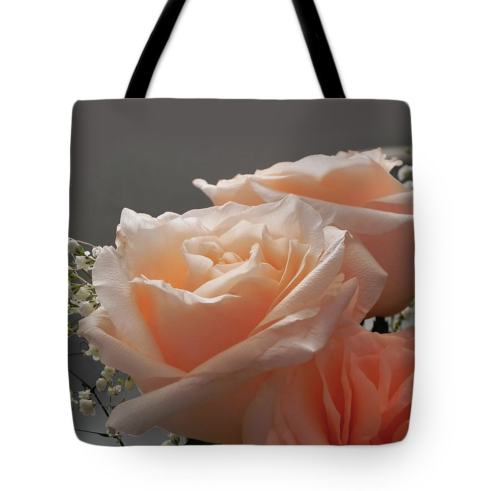 Roses Tote Bag featuring the photograph Roses Light by Francesa Miller