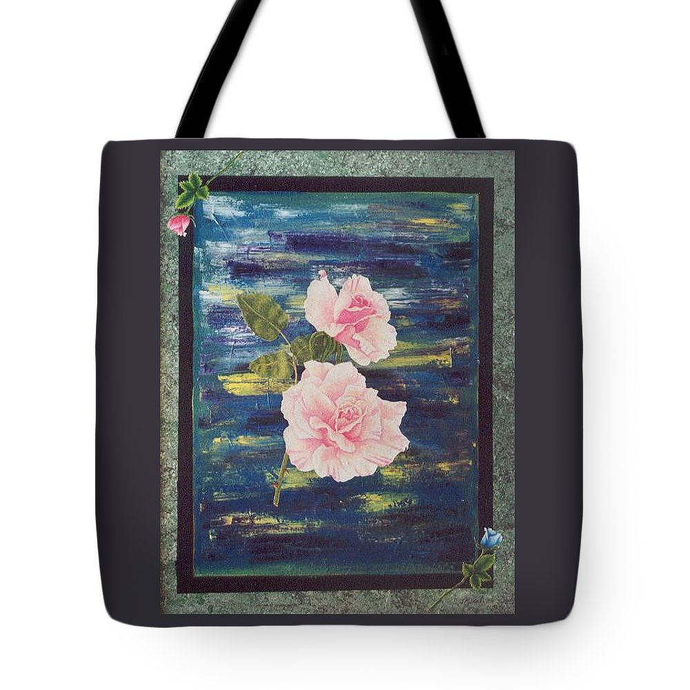 Rose Tote Bag featuring the painting Roses by Micah Guenther