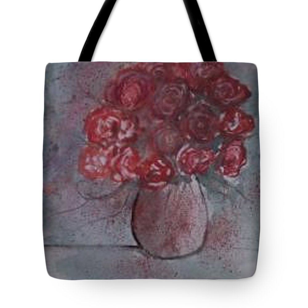 Watercolor Tote Bag featuring the painting Roses Still Life Watercolor Floral Painting Poster Print by Derek Mccrea