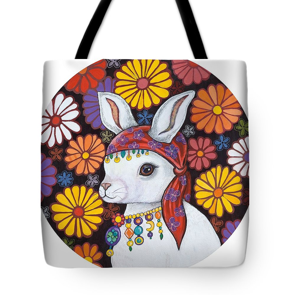 Siamese Cat Portrait Art Tapestry Tote Bag 1954-B Made in USA