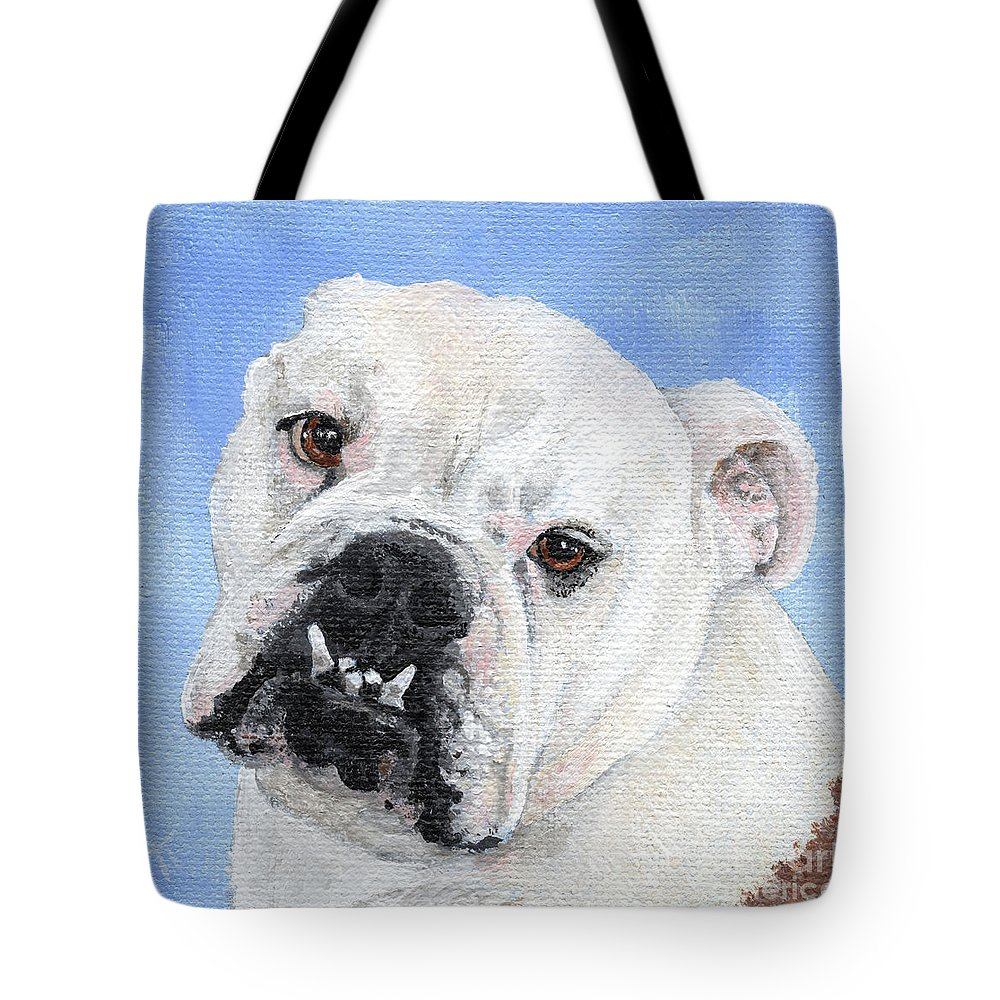 English Bull Dog Tote Bags