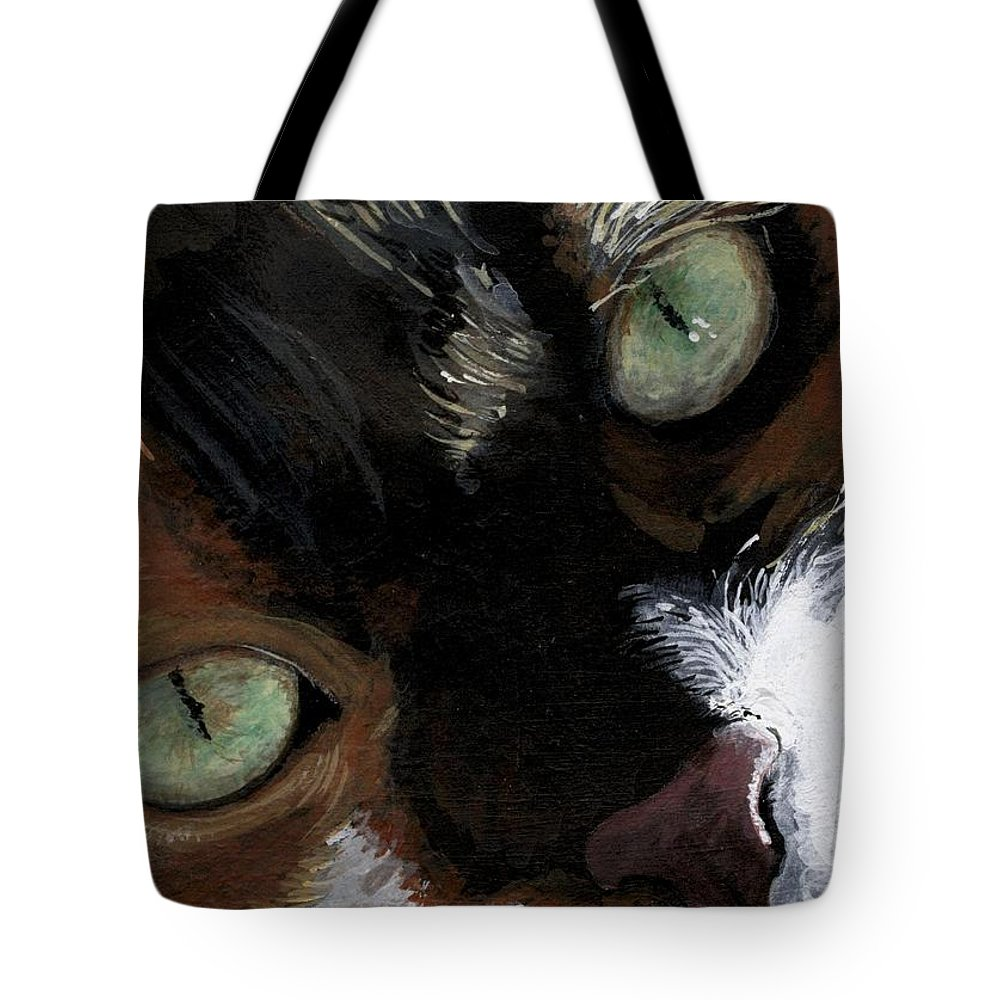 Charity Tote Bag featuring the painting Rosie by Mary-Lee Sanders