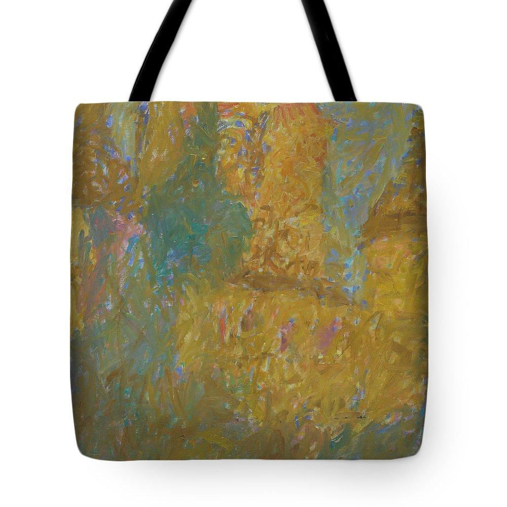 Rostov Tote Bag featuring the painting Rostov by Robert Nizamov