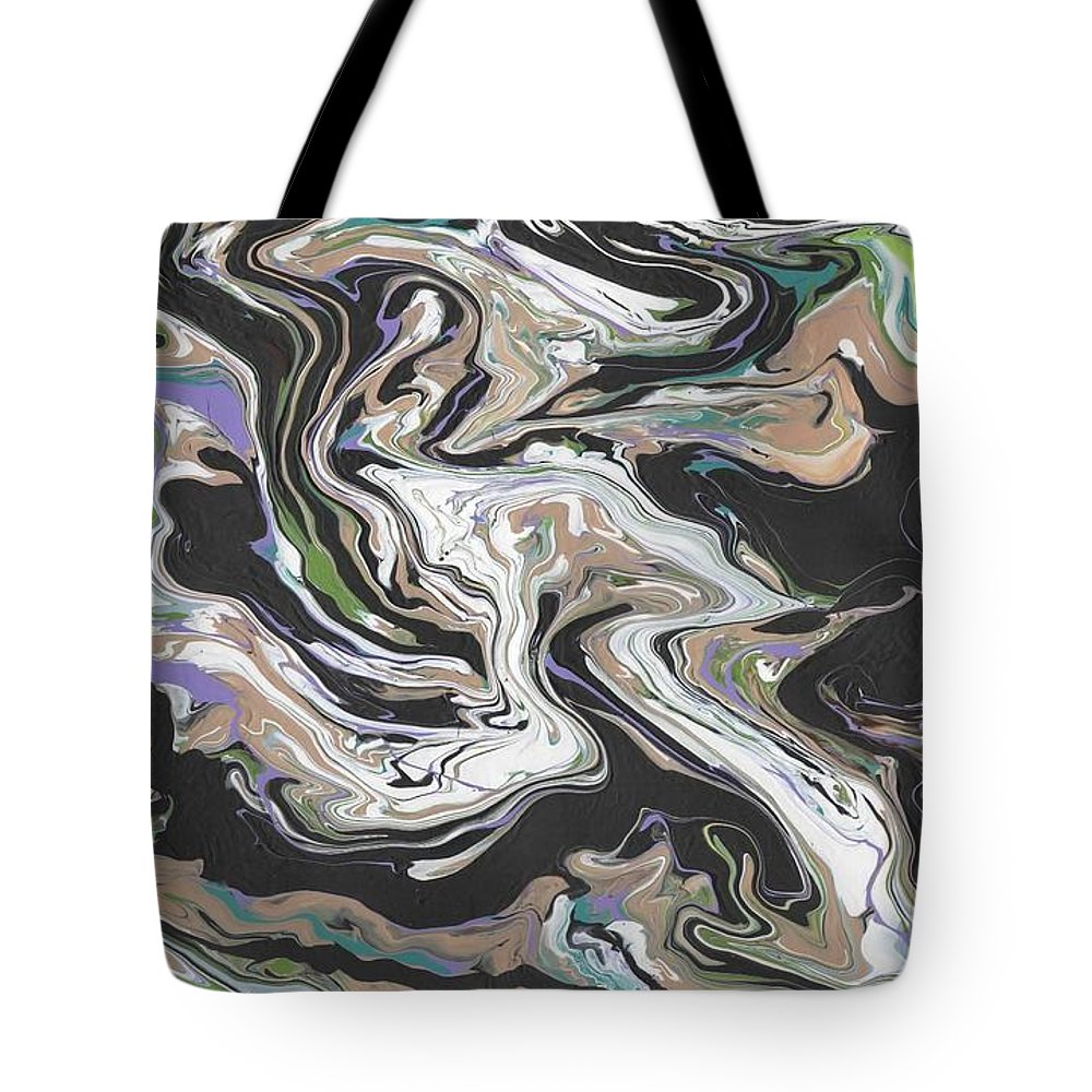 Abstract Tote Bag featuring the painting Rotation by Wayne Gordon