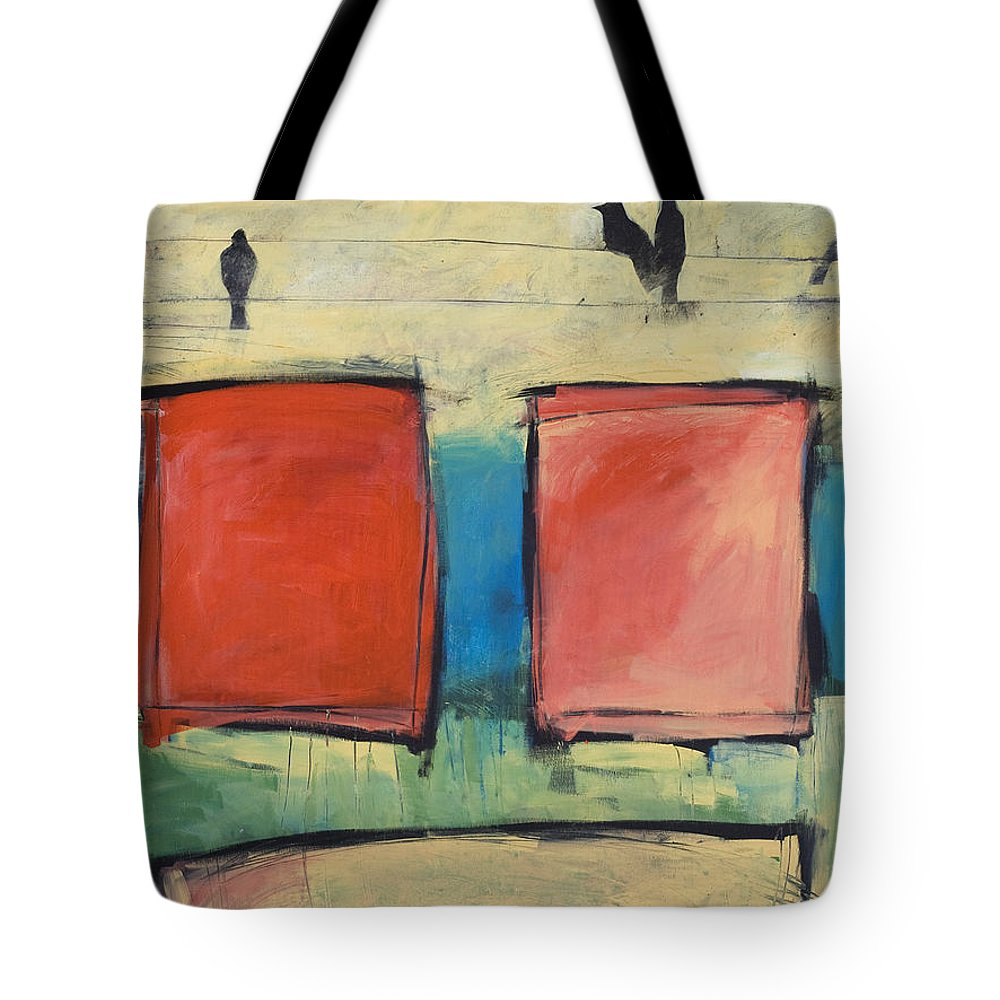 Rothko Tote Bag featuring the painting Rothko Meets Hitchcock by Tim Nyberg