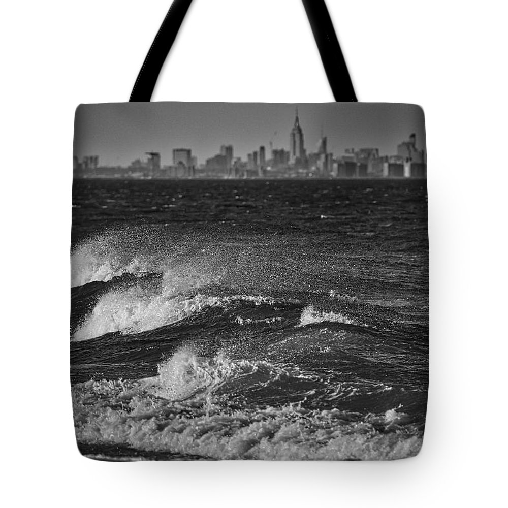 Photography Tote Bag featuring the photograph Rough Water by Raven Steel Design