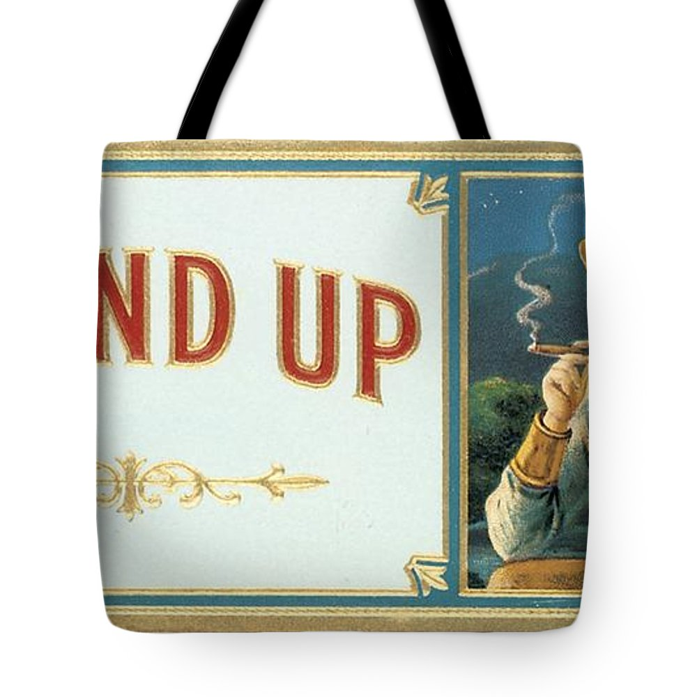 Label Art Tote Bag featuring the painting Round Up by Priscilla Wolfe