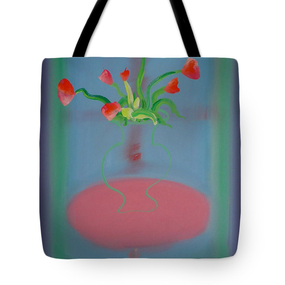 Flower Tote Bag featuring the painting Rouseau Flowers by Charles Stuart