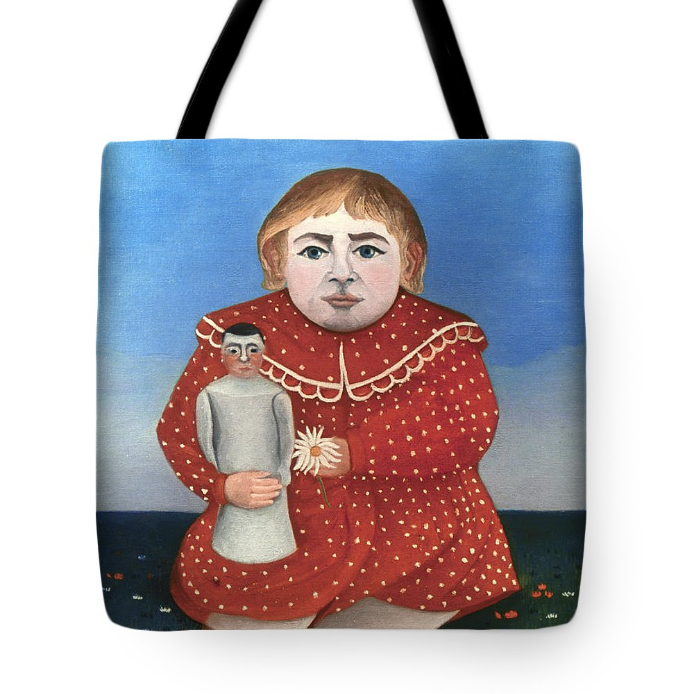 1906 Tote Bag featuring the photograph Rousseau: Child/doll, C1906 by Granger