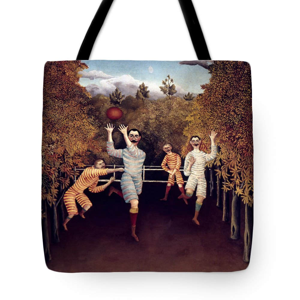 1908 Tote Bag featuring the photograph Rousseau: Football, 1908 by Granger
