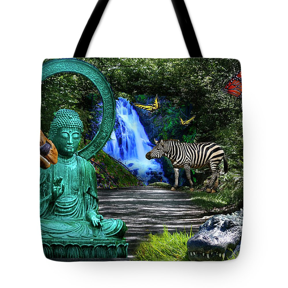 Rousseau Tote Bag featuring the photograph Rousseau's Garden by Dan Earle