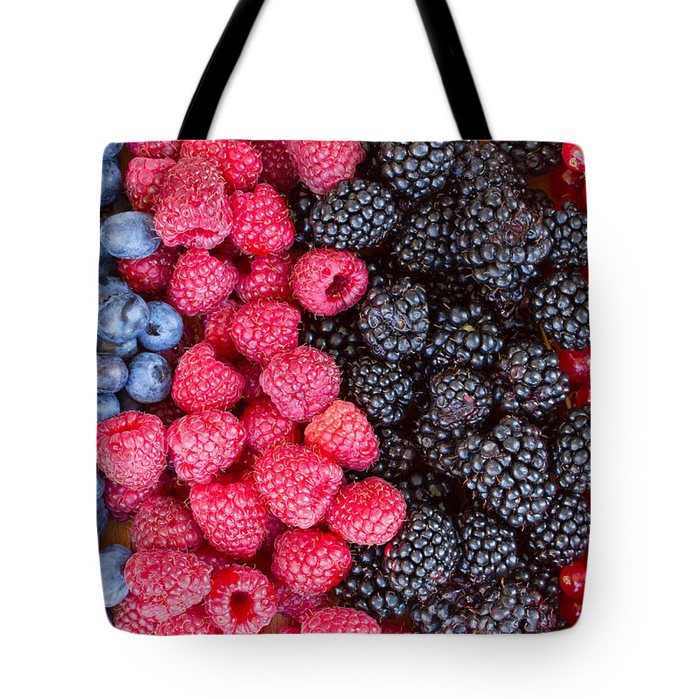 Berries Tote Bag featuring the photograph Rows Of Berries by Anastasy Yarmolovich