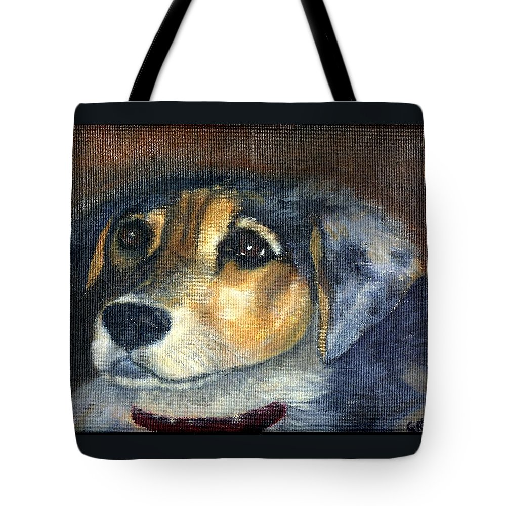 Dog Tote Bag featuring the painting Roxie by Gail Kirtz
