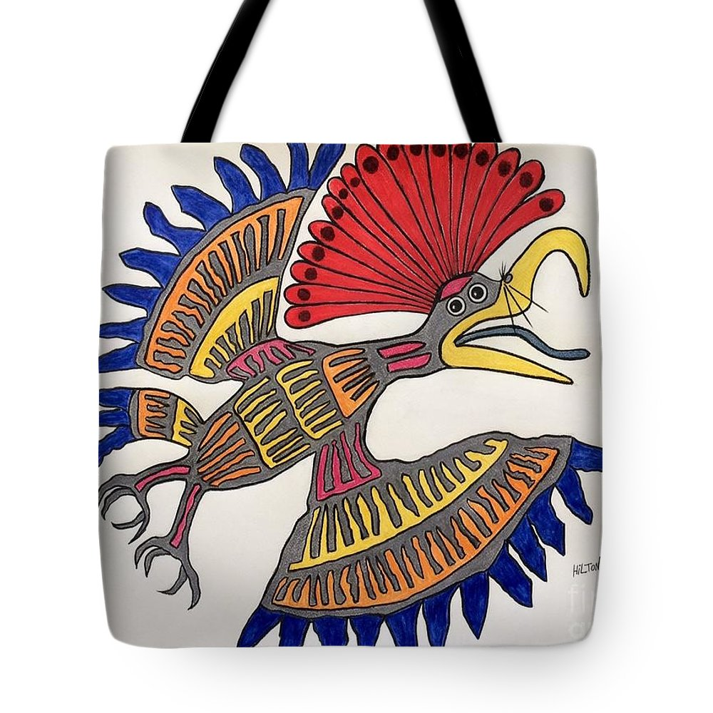 Nature Bird Royal Northern Flycatcher Mayan Tote Bag featuring the pastel Royal Flycatcher- Mayan 2 by Graham Wallwork
