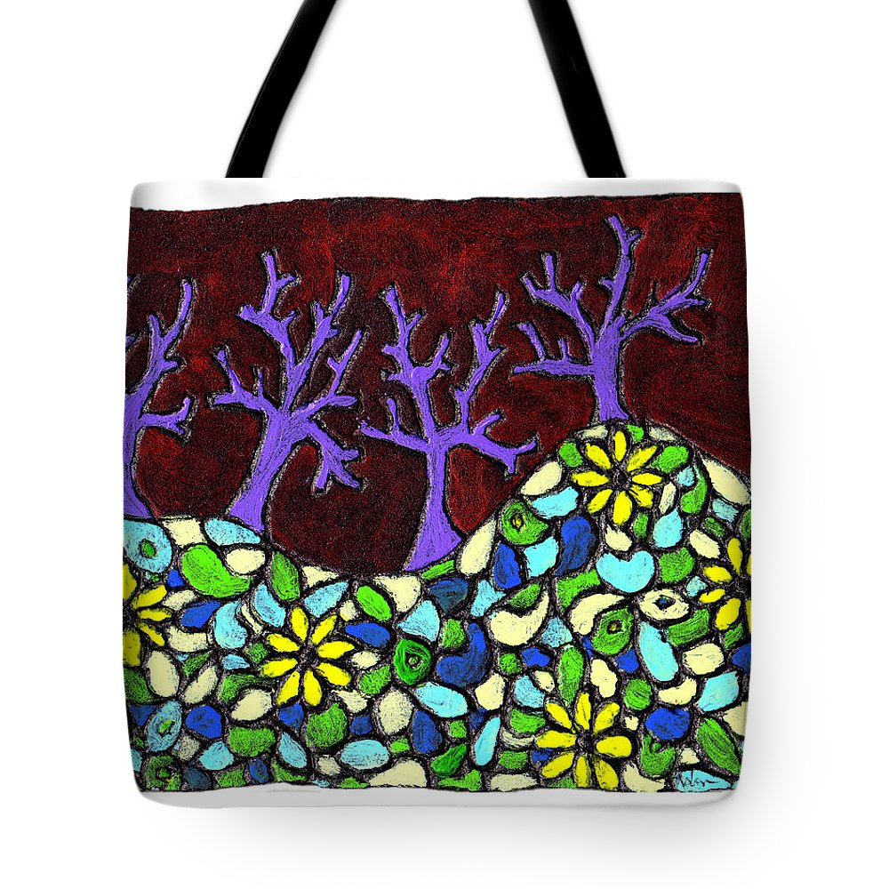 Trees Tote Bag featuring the painting Royal Forest by Wayne Potrafka