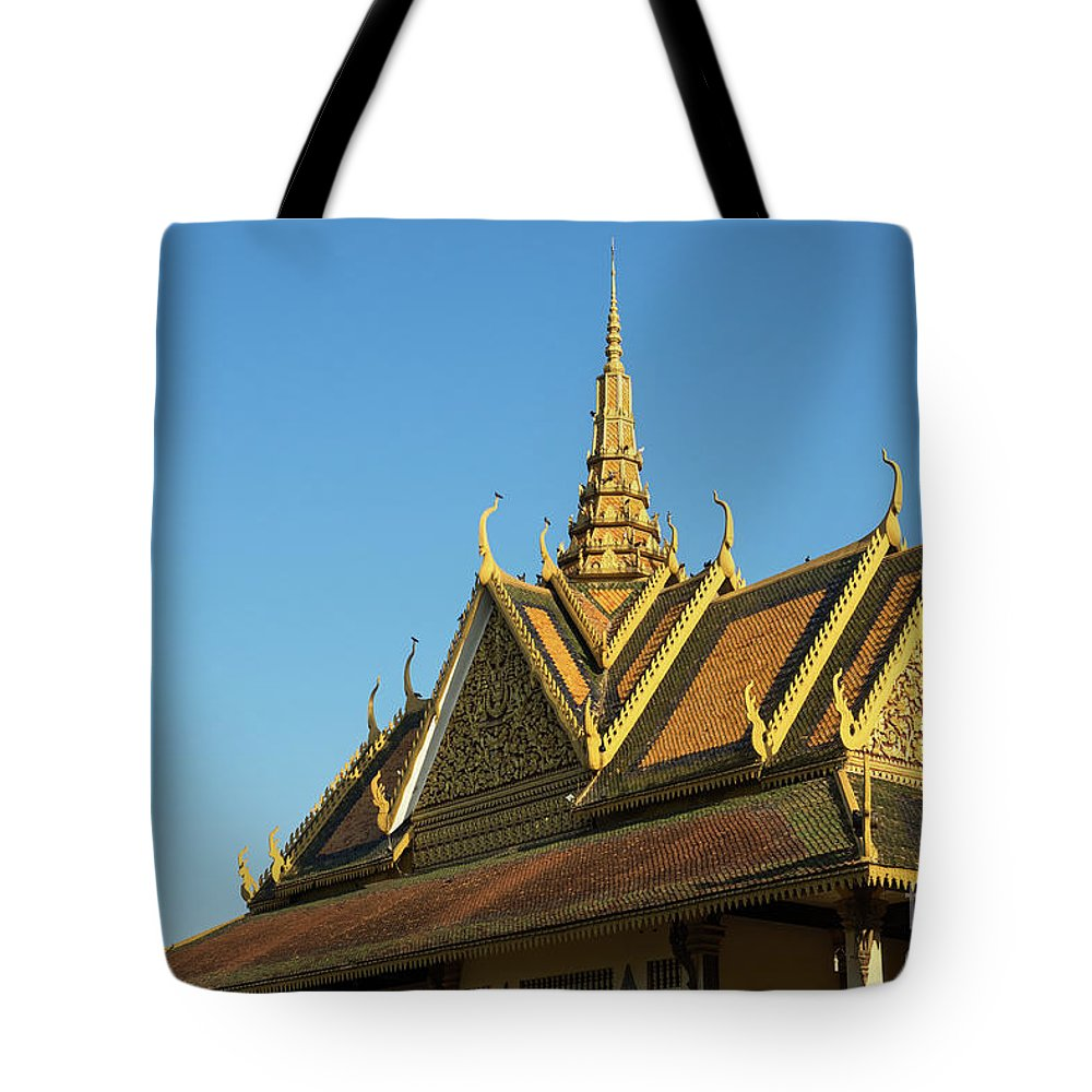 Cambodia Tote Bag featuring the photograph Royal Palace 10 by Rick Piper Photography