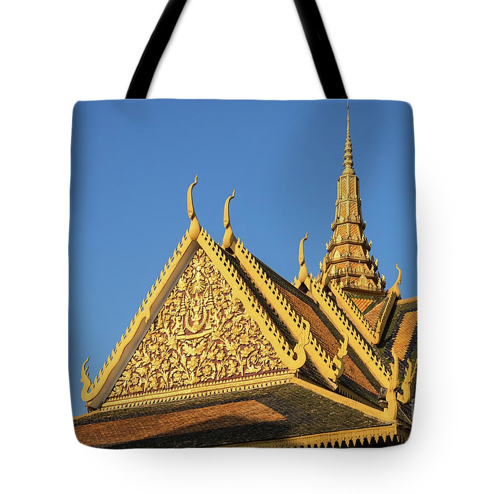Cambodia Tote Bag featuring the photograph Royal Palace 13 by Rick Piper Photography