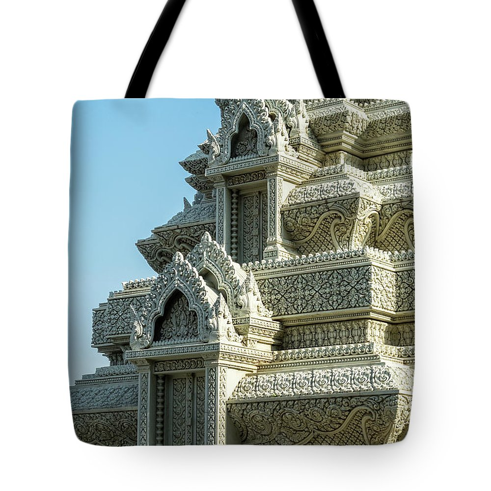 Cambodia Tote Bag featuring the photograph Royal Palace Shrine 01 by Rick Piper Photography
