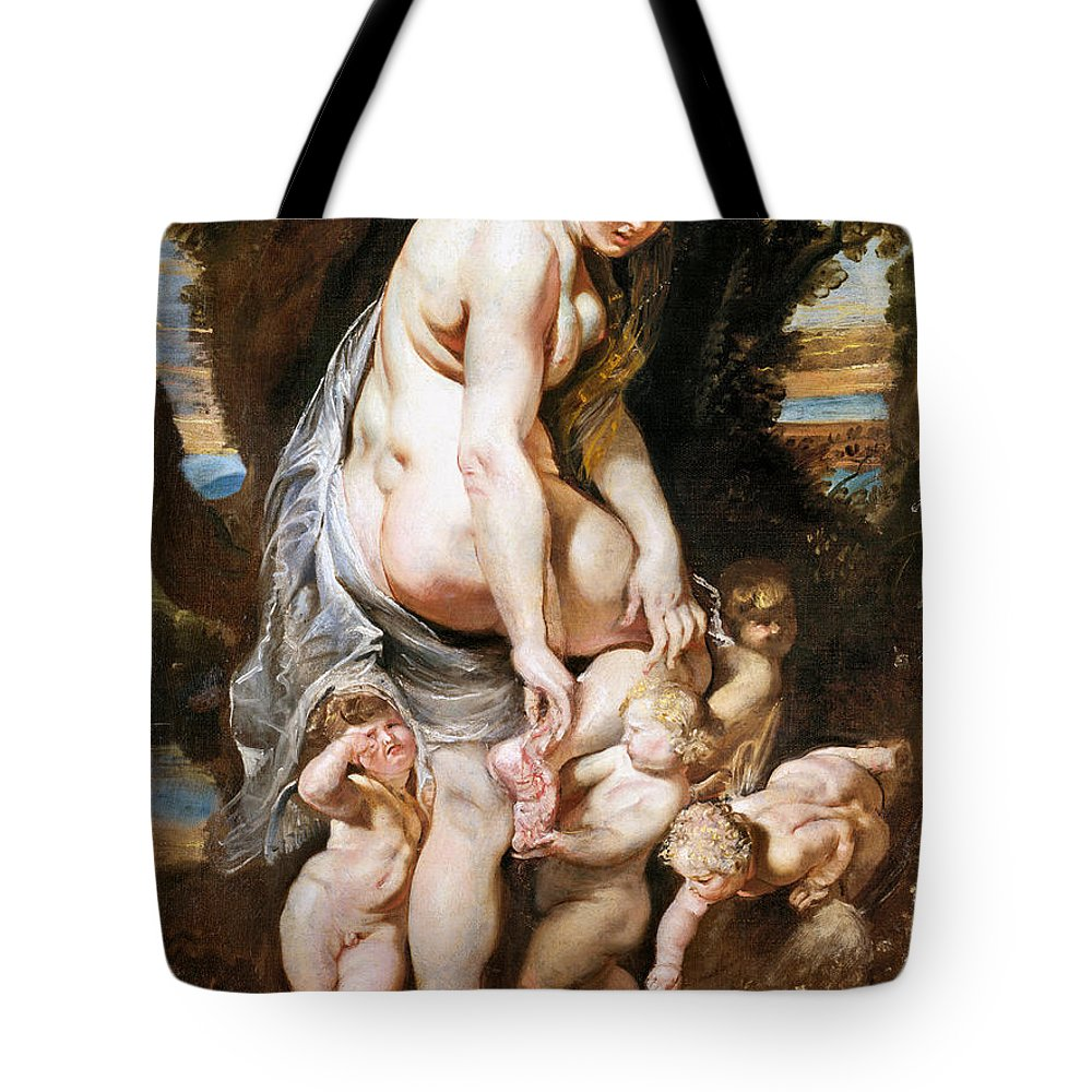 1606 Tote Bag featuring the painting Rubens: Venus, C1606-09 by Granger