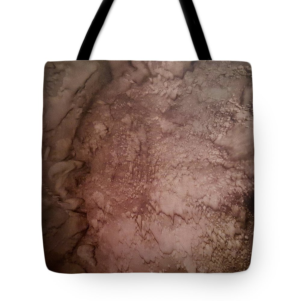Abstract Landscape Tote Bag featuring the painting Rubicon by Iliana Tosheva