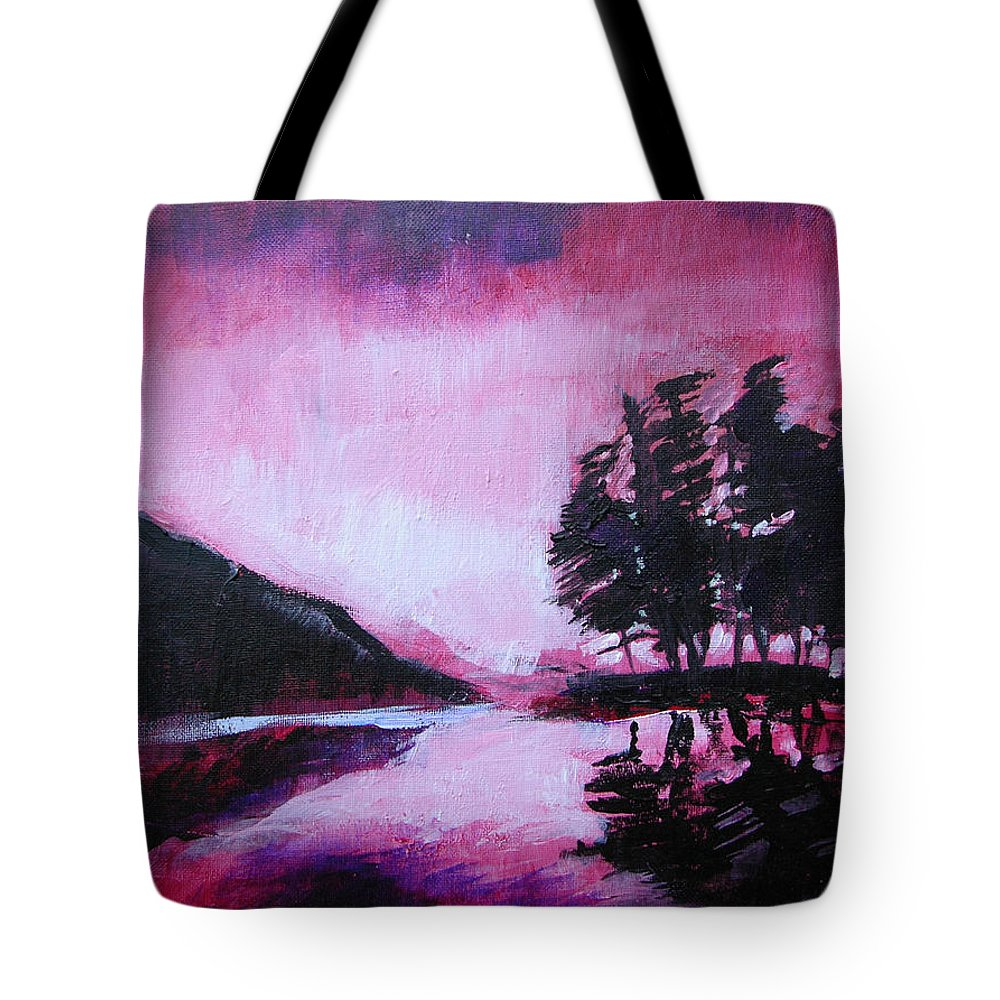 Ruby Dawn Tote Bag featuring the painting Ruby Dawn by Seth Weaver