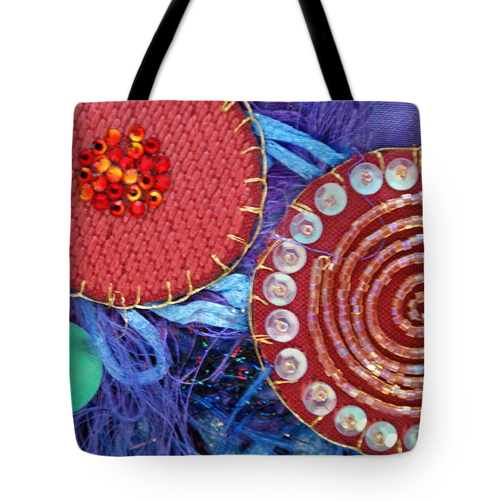 Tote Bag featuring the mixed media Ruby Slippers 5 by Judy Henninger