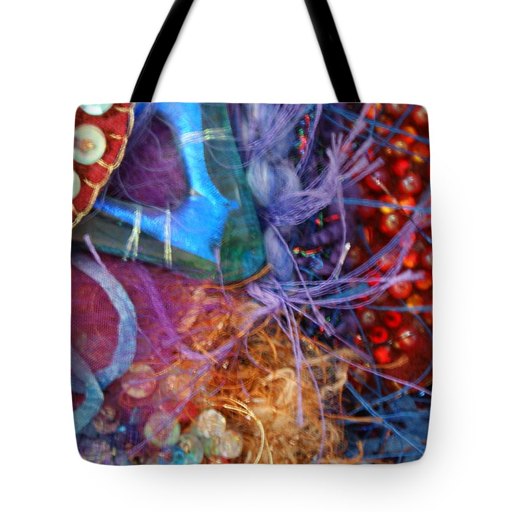 Tote Bag featuring the mixed media Ruby Slippers 6 by Judy Henninger