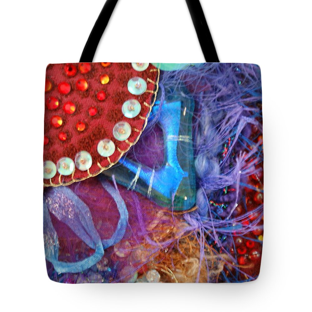 Tote Bag featuring the mixed media Ruby Slippers 7 by Judy Henninger