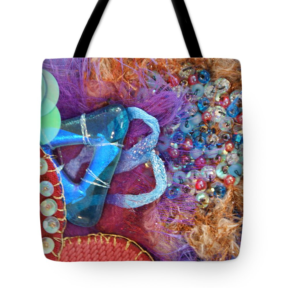Tote Bag featuring the mixed media Ruby Slippers 8 by Judy Henninger