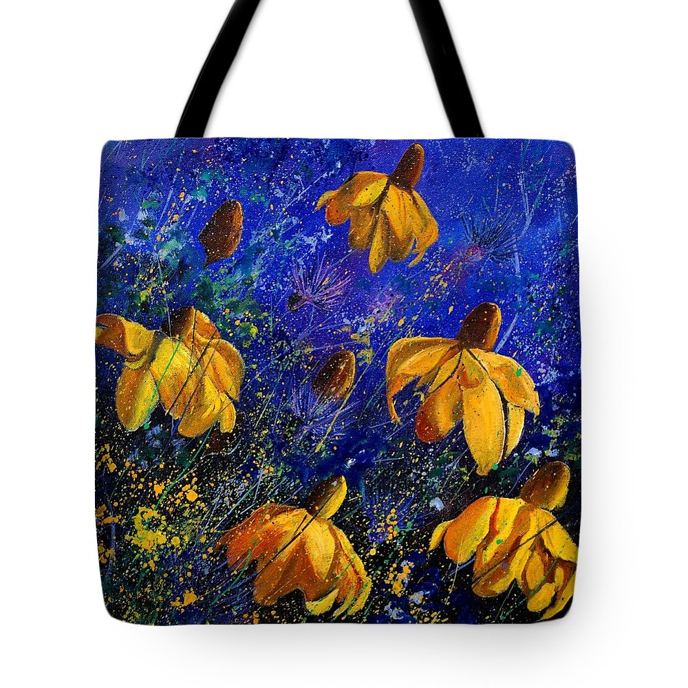 Poppies Tote Bag featuring the painting Rudbeckia's by Pol Ledent