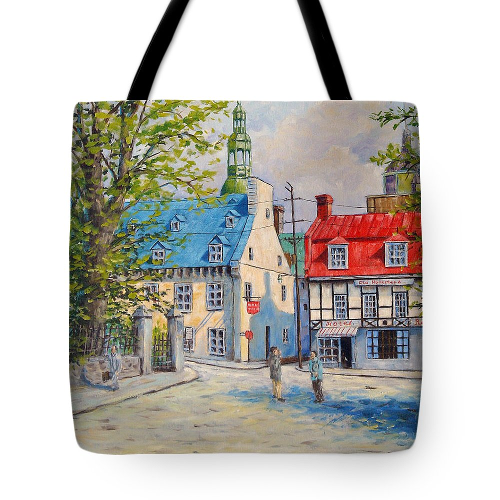 Ste Anne Tote Bag featuring the painting Rue Ste Anne 1965 by Richard T Pranke