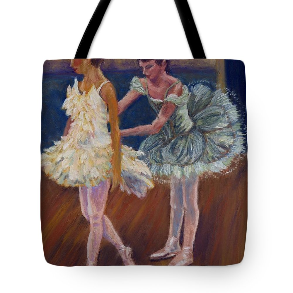 Ballerina Tote Bag featuring the painting Ruffled Feathers by Sharon E Allen