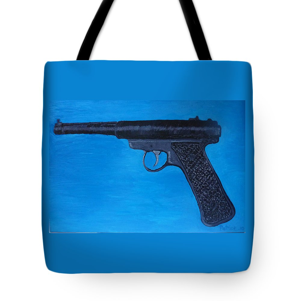 Tote Bag featuring the painting Ruger by Patrice Tullai
