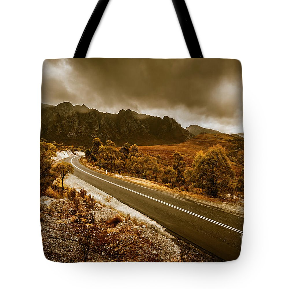 Tasmania Tote Bag featuring the photograph Rugged Rural Retreats by Jorgo Photography - Wall Art Gallery