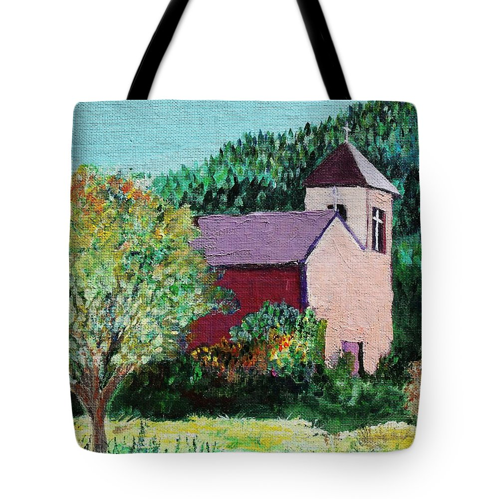 Church Tote Bag featuring the painting Ruidoso by Melinda Etzold