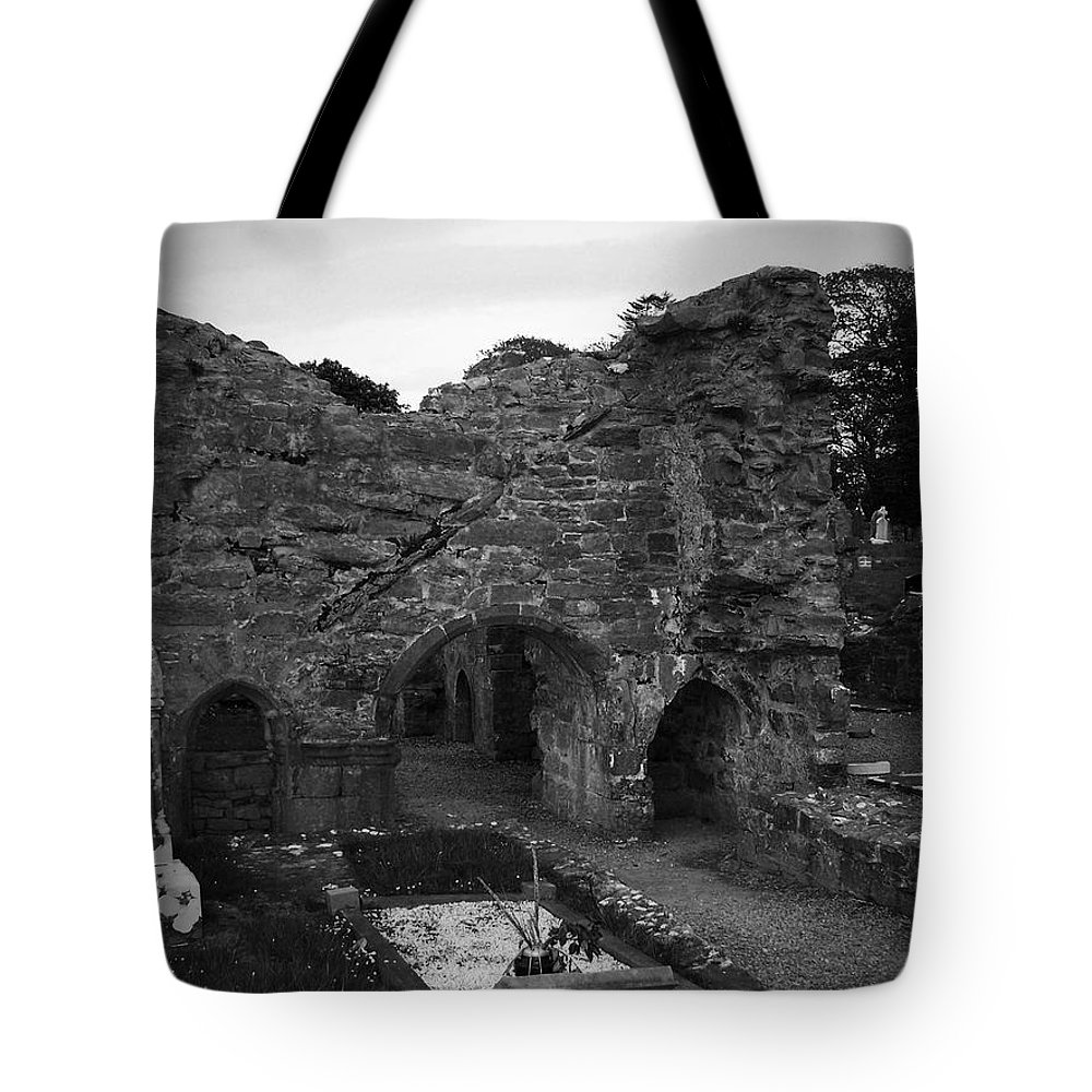 Irish Tote Bag featuring the photograph Ruins At Donegal Abbey Donegal Ireland by Teresa Mucha