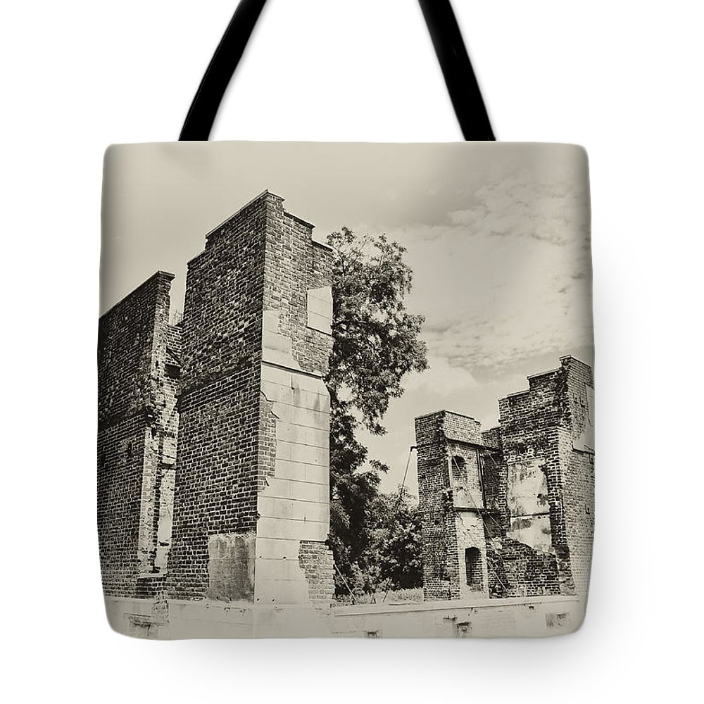 Jamestown Tote Bag featuring the photograph Ruins At Jamestown by Bill Cannon
