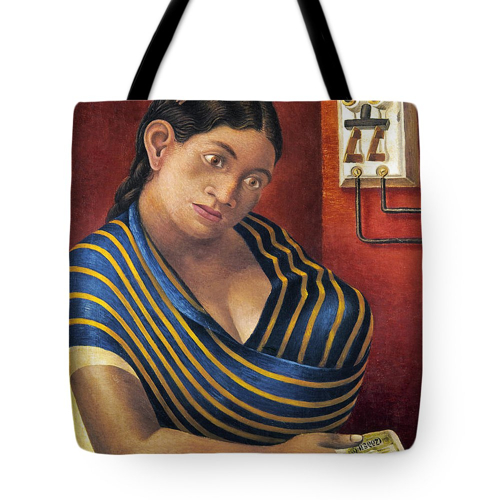 1932 Tote Bag featuring the photograph Ruiz: Lottery Ticket Seller by Granger