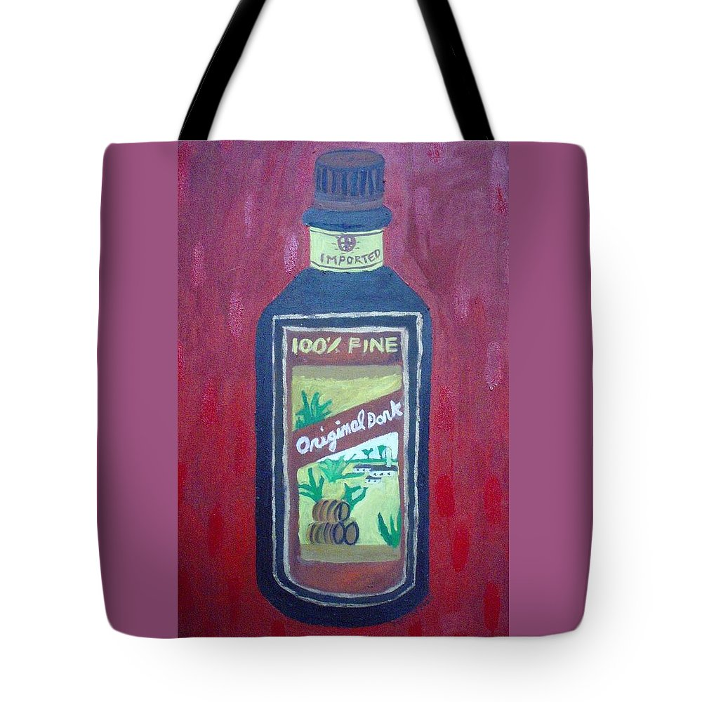 Oil On Canvas Tote Bag featuring the painting Rum by Patrice Tullai