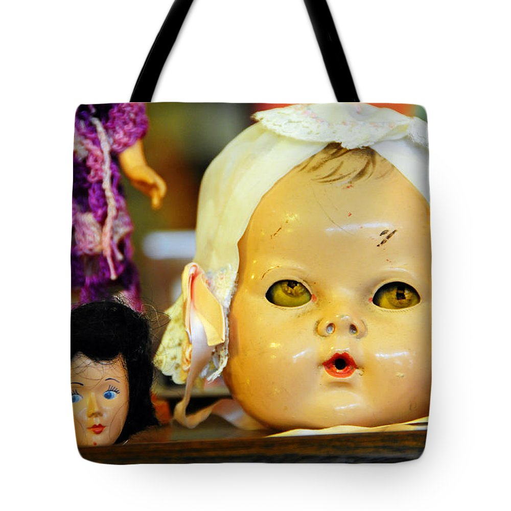 Antique Tote Bag featuring the photograph Rumormongers by Skip Hunt