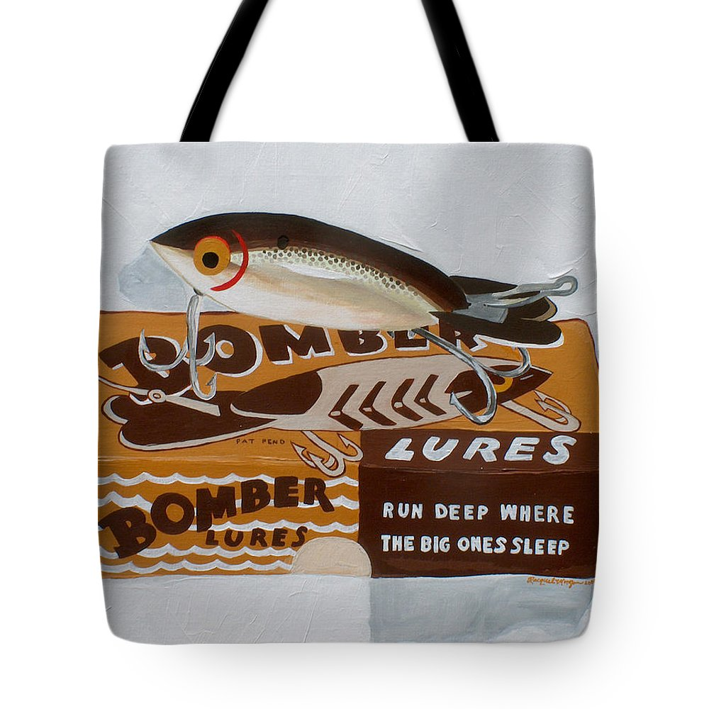 Fishing Tote Bag featuring the painting Run Deep by Racquel Morgan