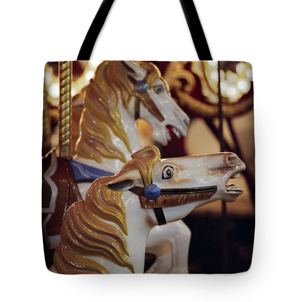 Horses Tote Bag featuring the photograph Runaway Horses by Ayesha Lakes