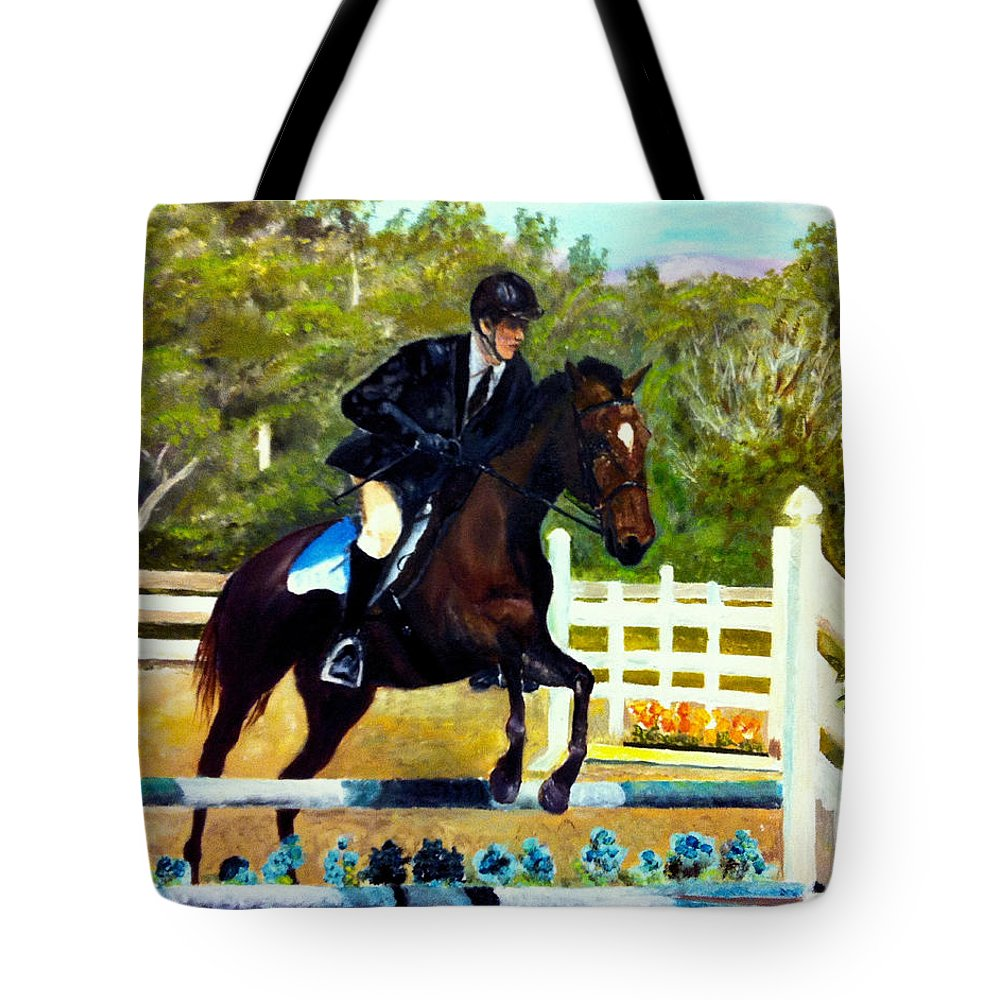 Horse Tote Bag featuring the painting Running Free by Beverly Johnson